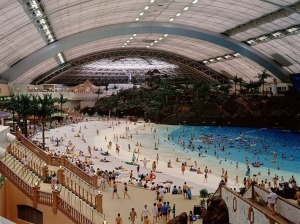 So, this is the Ocean Dome, a man-made beach somewhere around the Phoenix Seagaia Resort, according to Google. (Photo credit: Google Images)
