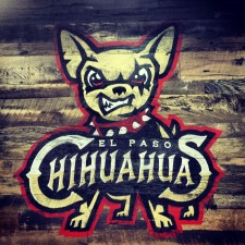The originally-controversial-and-now-fully-embraced-and-loved logo of the El Paso Chihuahuas, the Triple-A affiliate of the San Diego Padres.