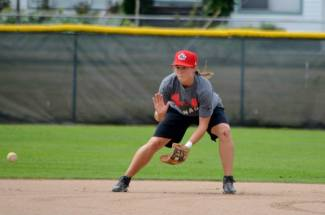 Bradi Wall, Team Canada shortstop. I took a lot of pictures but I like this one.