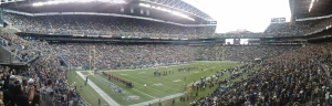 Absolutely one of the best parts of the trip, the pre-season Seattle Seahawks game.