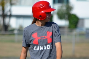 Emma Carr of Toronto, Ontario, the youngest player on the Women's National Team at 15 years old.