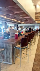 This is the beautiful WestStar Bank Club, a pretty sweet bar with a view from right behind home plate.