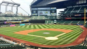 Safeco Field, the view from the press box.