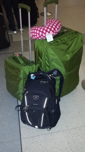 My life in three pieces of luggage. Or at least a month's worth of my life.