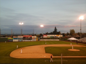 Everett Memorial Stadium, from our Saturday night point of view.