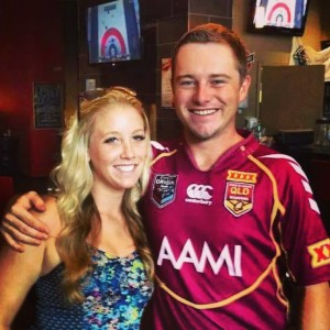 Me and my Brisbane Bandits bud, obviously a Queenslander, Tom. He's on the right.