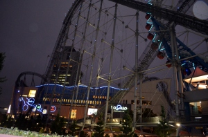 The roller coaster outside of the Tokyo Dome. I didn't try it but some people did.