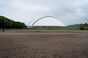 The location of the last exhibition game for the women's team.