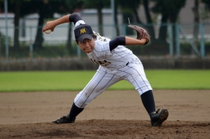 The Japanese submariner the University All-Stars threw against the Women's National Team.