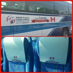 The bus was especially for Team Canada and stayed with the squad for the duration of the trip in Miyazaki.